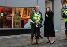 Housing Minister visits our City Centre, Griffin Island